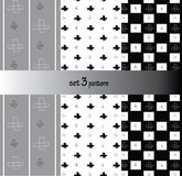 Repeat pattern modern graphic vector black,grey doodle cross background Stock Photos