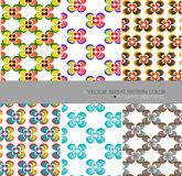 Repeat pattern modern graphic vector flower background. Vector pattern,fabric print design, seamless creative geometric , color decor pattern background Royalty Free Stock Images