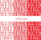 Repeat pattern set 3 vector dots and square art background Royalty Free Stock Image