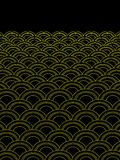Repeat patterns. With black background Royalty Free Stock Images