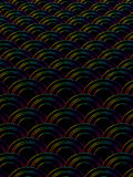 Repeat patterns. With black background Royalty Free Stock Photos