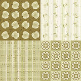 Repeat patterns. Four seamless tilable repeat patterns Royalty Free Stock Images