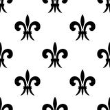Repeat seamless pattern of fleur de lys Royalty Free Stock Photos