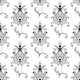 Repeat seamless pattern of persian floral motifs Royalty Free Stock Image
