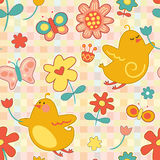 Repeat Spring Pattern Royalty Free Stock Photos