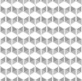 Abstract white cube patterns background. Repeat triangle, rhombus and hexagon pattern seamless background vector vector illustration