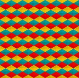 Colorful triangles and rhombus pattern seamless background vector. Repeat triangles, rhombus and hexagon pattern background royalty free illustration