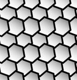 Repeatable безшовная картина с опрокинутыми, перекрытыми шестиугольниками g Стоковое Фото