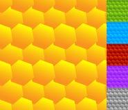 Repeatable безшовная картина с опрокинутыми, перекрытыми шестиугольниками g Стоковые Изображения RF