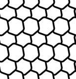 Repeatable безшовная картина с опрокинутыми, перекрытыми шестиугольниками g Стоковое Изображение RF