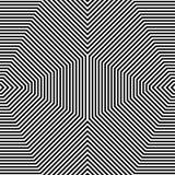 Repeatable геометрическая картина Абстрактное monochrome угловое backgr Стоковое фото RF
