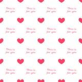 Repeatable картина сердца, предпосылка сердца Стоковые Фото