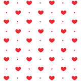 Repeatable картина сердца, предпосылка сердца Стоковая Фотография RF
