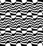 Repeatable передернутая картина с прямоугольниками, черно-белое te Стоковые Изображения RF
