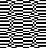 Repeatable передернутая картина с прямоугольниками, черно-белое te Стоковое фото RF