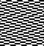 Repeatable передернутая картина с прямоугольниками, черно-белое te Стоковая Фотография RF