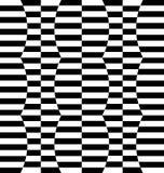 Repeatable передернутая картина с прямоугольниками, черно-белое te Стоковая Фотография