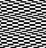 Repeatable передернутая картина с прямоугольниками, черно-белое te Стоковое Изображение RF