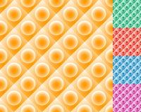 Repeatable плитки картины с кругом над квадратом иллюстрация вектора