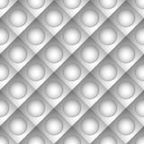 Repeatable плитки картины с кругом над квадратом Стоковые Изображения