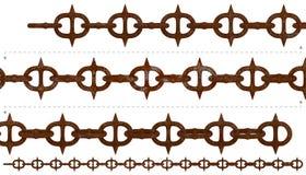 Repeatable средневековой ржавчины spiky цепное Стоковые Фотографии RF