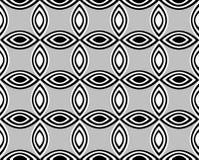 Repeatable цветочный узор состоя из чередующ белые и черные остроконечные овалы Стоковая Фотография RF