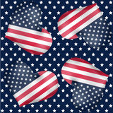 Repeatable background for American independence day, 4th of July. In vector Vector Illustration