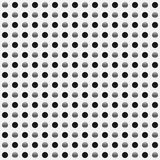 Repeatable circles, dots pattern. Colorful / multicolor texture. With circles. Duotone & x28;tricolor& x29; polkadots - Royalty free vector illustration stock illustration