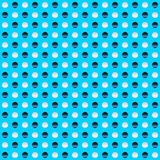 Repeatable circles, dots pattern. Colorful / multicolor texture. With circles. Duotone & x28;tricolor& x29; polkadots - Royalty free vector illustration royalty free illustration