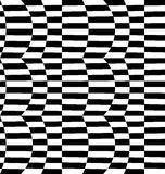 Repeatable distorted pattern with rectangles, black and white te Royalty Free Stock Photo