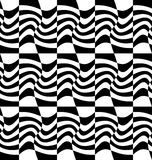 Repeatable distorted pattern with rectangles, black and white te Royalty Free Stock Images
