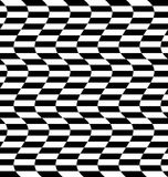 Repeatable distorted pattern with rectangles, black and white te Royalty Free Stock Photography