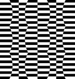 Repeatable distorted pattern with rectangles, black and white te Stock Photography