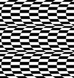 Repeatable distorted pattern with rectangles, black and white te Royalty Free Stock Image