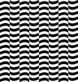 Repeatable distorted pattern with rectangles, black and white te Stock Photos