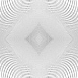Repeatable geometric pattern with distorted irregular dynamic li Stock Image