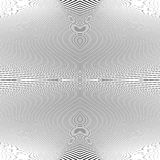 Repeatable geometric pattern with distorted irregular dynamic li Stock Photography