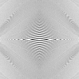 Repeatable geometric pattern with distorted irregular dynamic li Royalty Free Stock Images