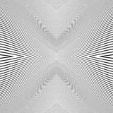 Repeatable geometric pattern with distorted irregular dynamic li Royalty Free Stock Photos
