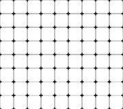 Repeatable monochrome решетка, сетка с крестами на пересечениях иллюстрация штока