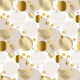 Repeatable motif for festive wrapping paper. Stock Images