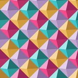 Multicolor cubical mosaic seamless pattern Royalty Free Stock Photo