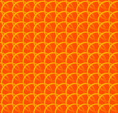 Repeatable pattern w/ interlocking circles, rings. Regular monochrome seamless geometric pattern. Royalty free vector illustration stock illustration