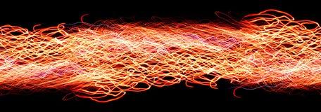 Repeatable random firetrails border Royalty Free Stock Photography