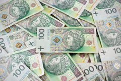 Repeatable 100's PLN, polish zloty Stock Images