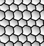 Repeatable seamless pattern with tilted, overlapping hexagons. G. Eometric monochrome textures - Royalty free vector illustration Stock Photos