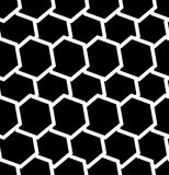 Repeatable seamless pattern with tilted, overlapping hexagons. G. Eometric monochrome textures - Royalty free vector illustration Royalty Free Stock Photography