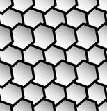 Repeatable seamless pattern with tilted, overlapping hexagons. G. Eometric monochrome textures - Royalty free vector illustration Stock Photo
