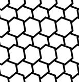 Repeatable seamless pattern with tilted, overlapping hexagons. G. Eometric monochrome textures - Royalty free vector illustration Stock Illustration