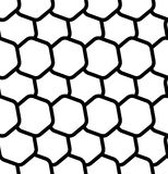 Repeatable seamless pattern with tilted, overlapping hexagons. G. Eometric monochrome textures - Royalty free vector illustration Royalty Free Stock Image